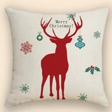 Kissenbezug mit Weihnachten Elch Muster ohne Fuelle