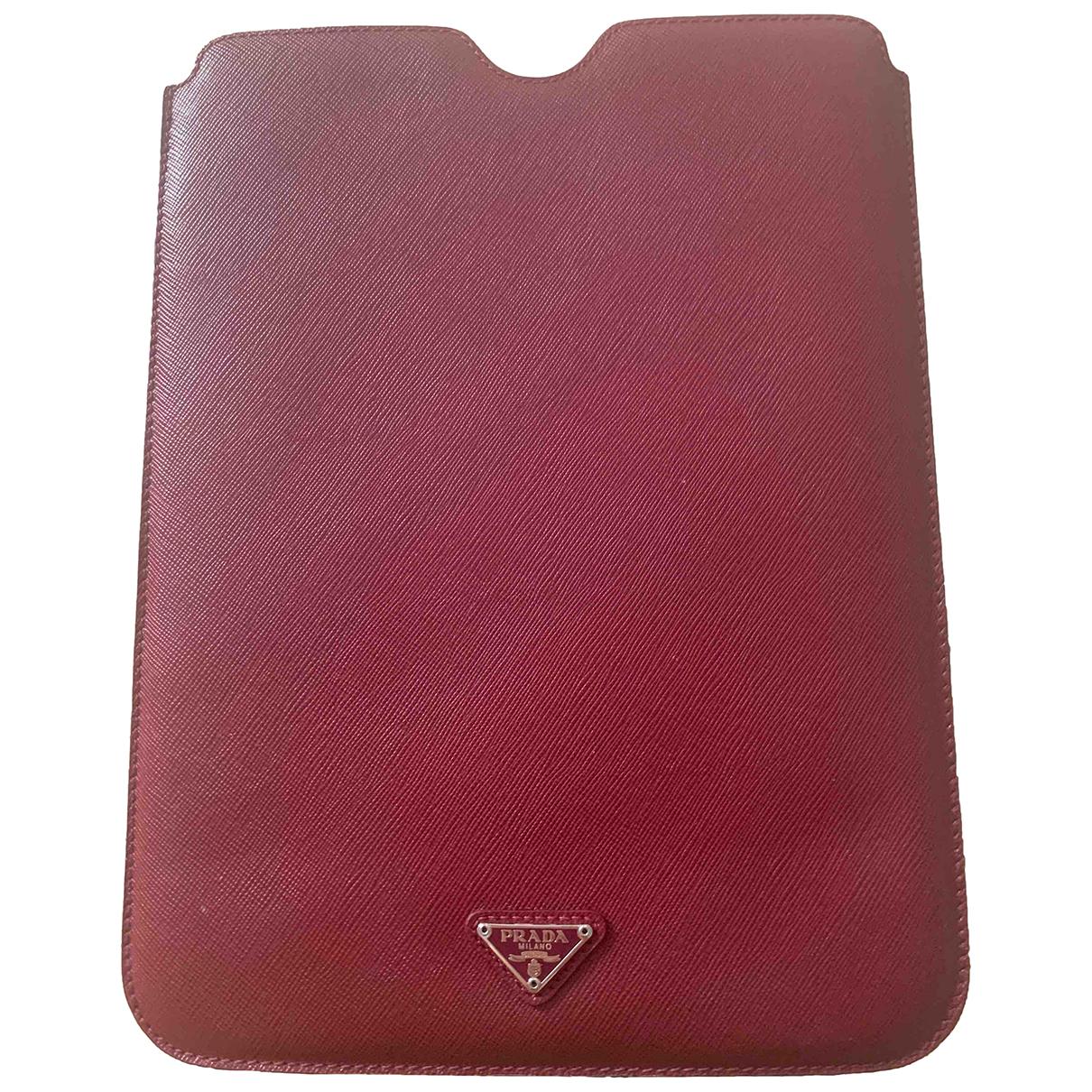 Prada N Burgundy Leather Purses, wallet & cases for Women N