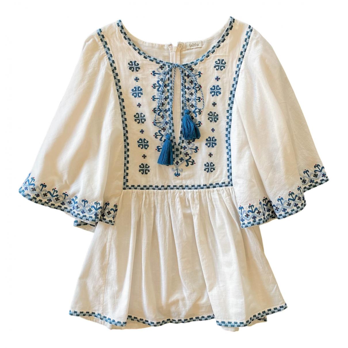 Talitha - Top   pour femme en coton - blanc