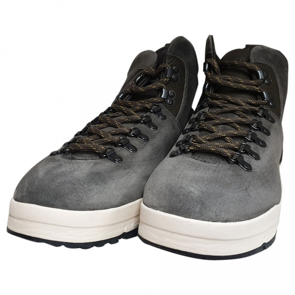 Woolrich - Baskets   pour homme en suede - gris