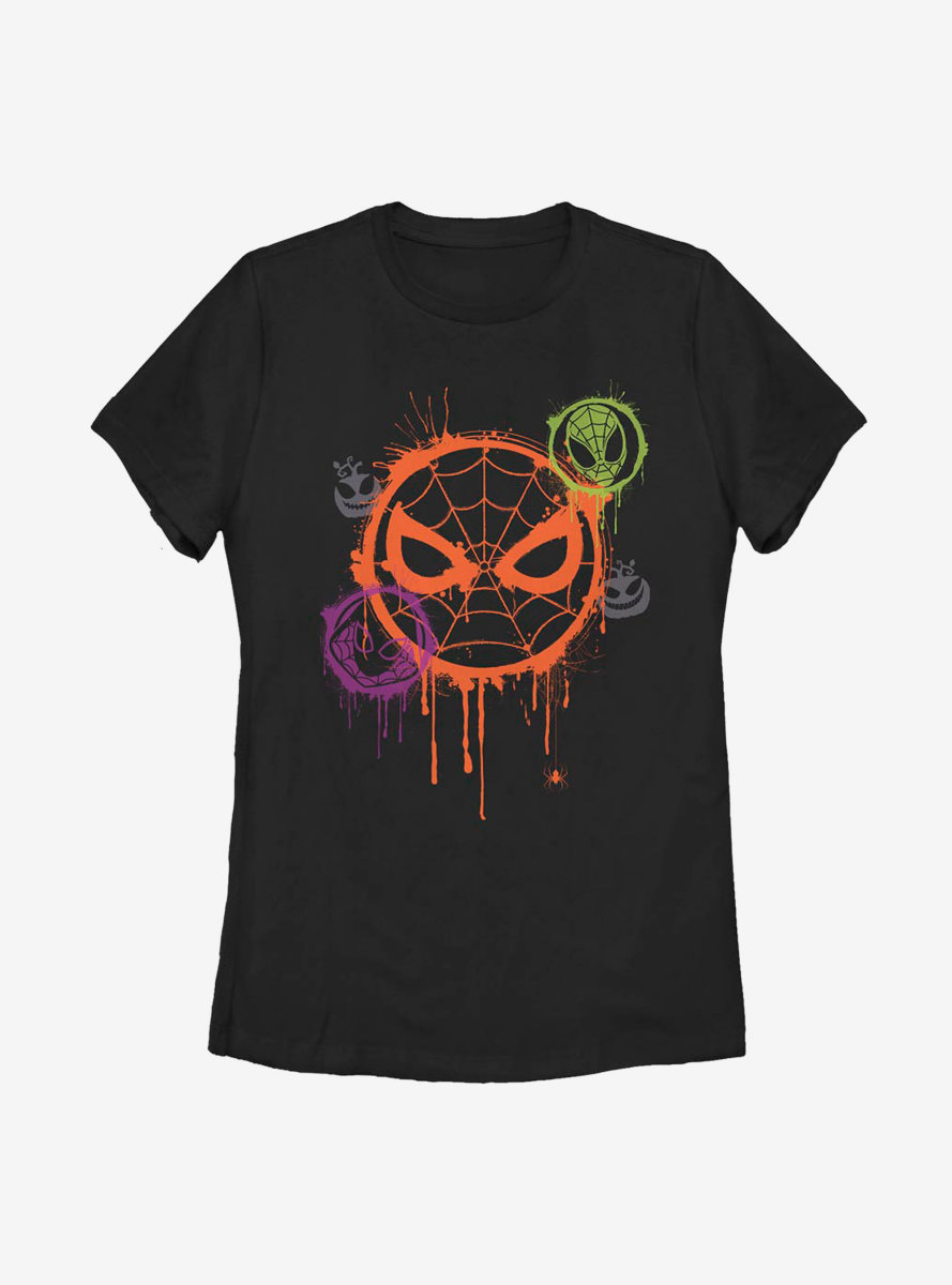 Marvel Avengers Spooky Spider Stencil Womens T-Shirt