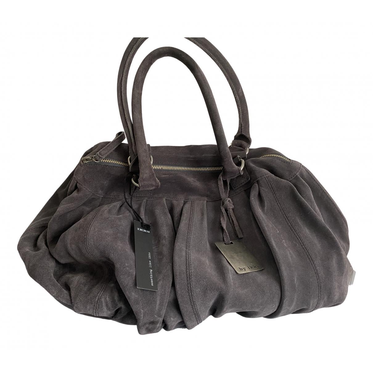 Ikks N Purple Suede handbag for Women N