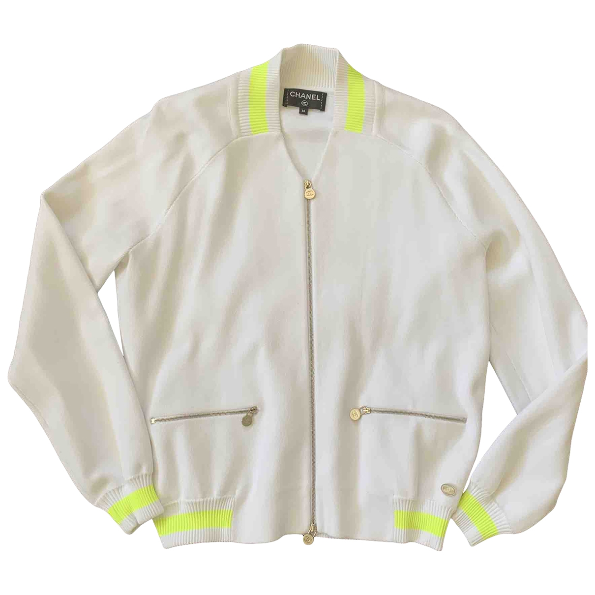 Chanel \N White jacket for Women 36 FR