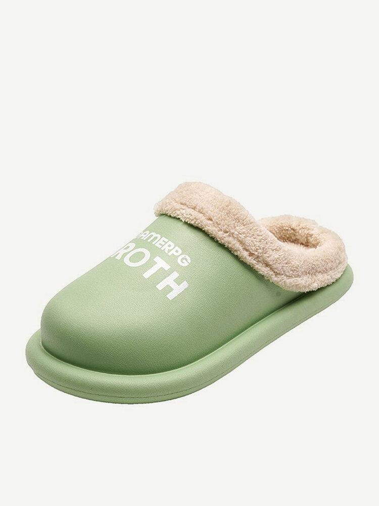 Women Comfy Winter Warm Waterproof Plush Indoor Slipper