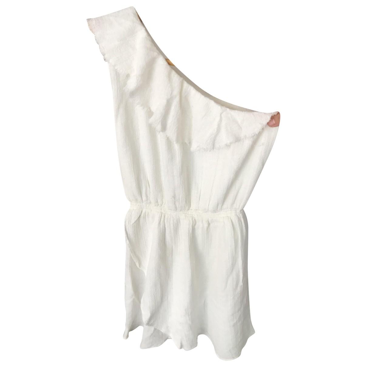 Soeur \N Kleid in  Ecru Baumwolle