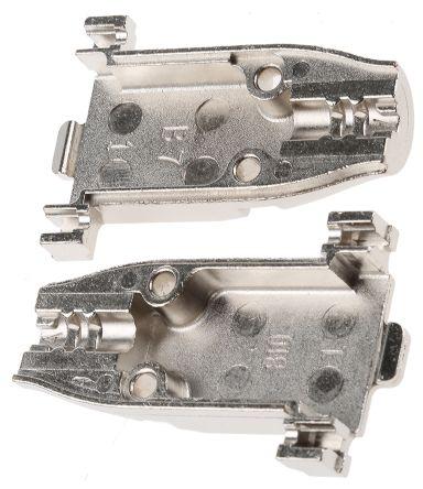 TE Connectivity , Amplimite Zinc D-sub Connector Backshell, 9 Way, Silver