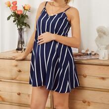 Maternity Striped Cami Dress
