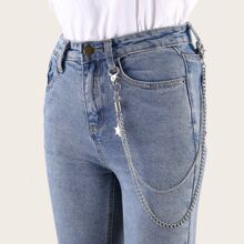 Star Charm Layered Pant Chain