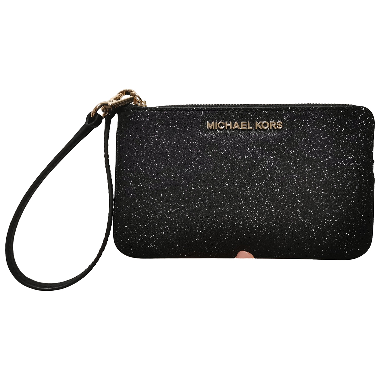 Michael Kors \N Clutch in  Schwarz Mit Pailletten
