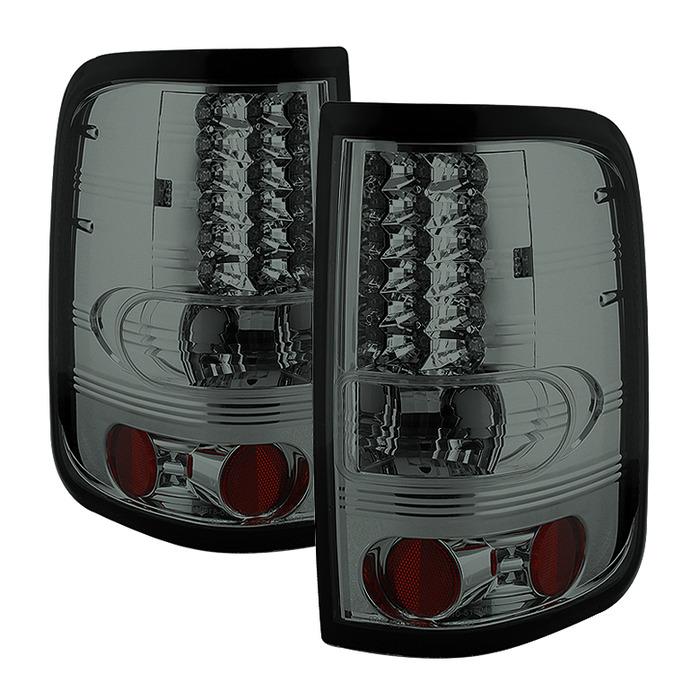 Spyder Auto ALT-YD-FF15004-LED-SM Smoke LED Taillights Ford F-150 Styleside Non-Heritage & SVT 04-08