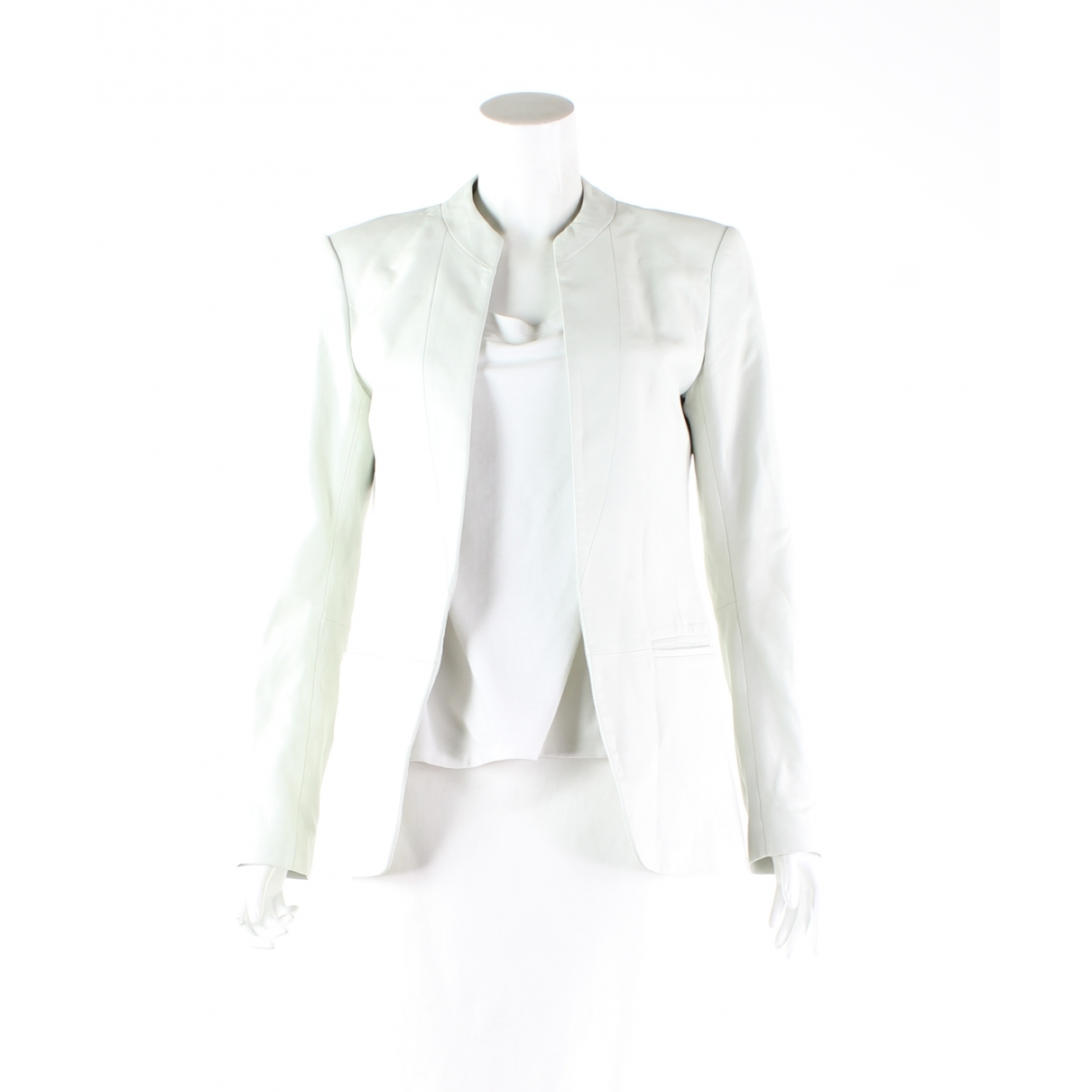 Theory \N Ecru Leather jacket for Women 4 US