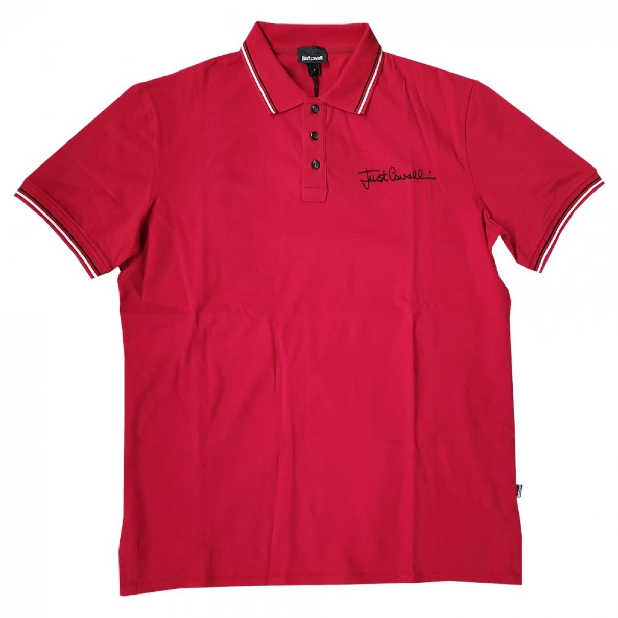 Polo en Algodon Rojo Just Cavalli