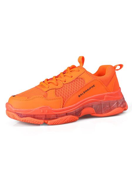 Milanoo Zapatillas de deporte de colores brillantes para hombres Zapatillas de malla acogedoras con punta redonda