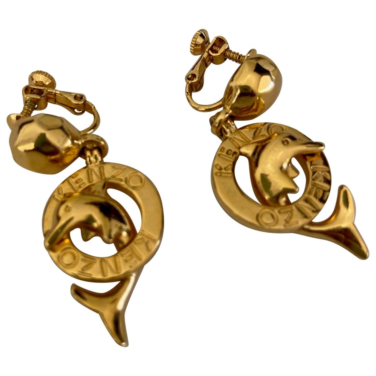 Kenzo - Boucles doreilles   pour femme en plaque or - dore