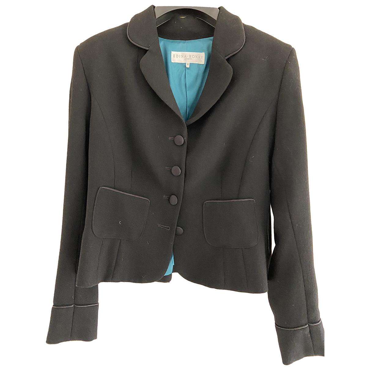 Autre Marque N Black Wool jacket for Women 12 UK