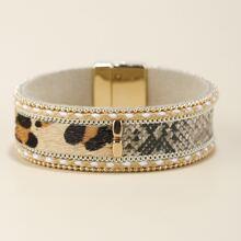 Armband mit Leopard & Schlangenleder Muster