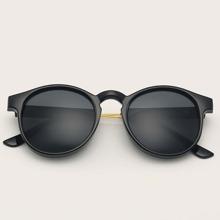 Herren Acrylrahmen Runde Sonnenbrille
