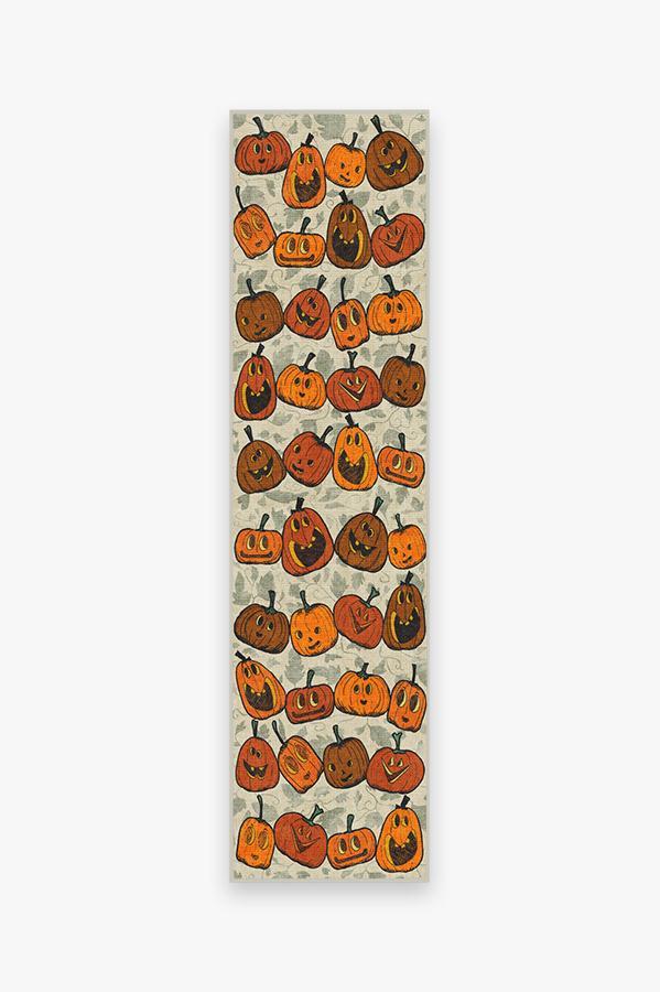 Washable Rug Cover & Pad | Jack O Lantern Orange Rug | Stain-Resistant | Ruggable | 2.5'x10'