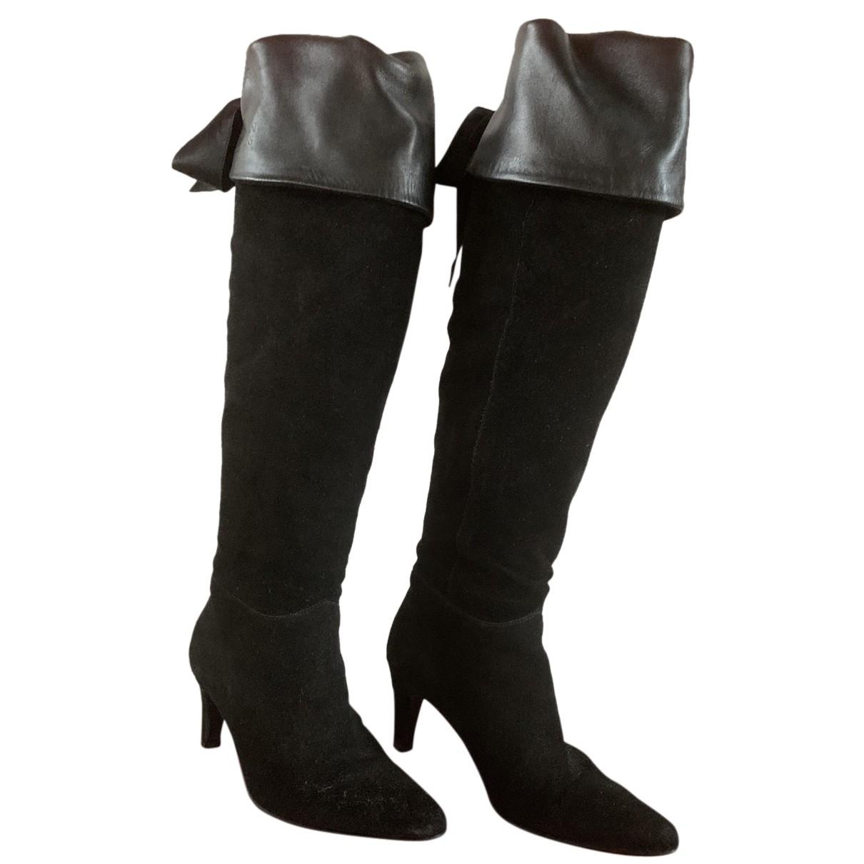 Armani Jean - Bottes   pour femme en cuir - noir