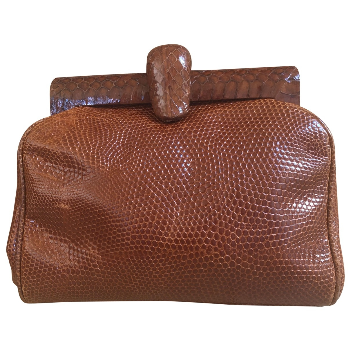 Prada \N Brown Lizard Clutch bag for Women \N