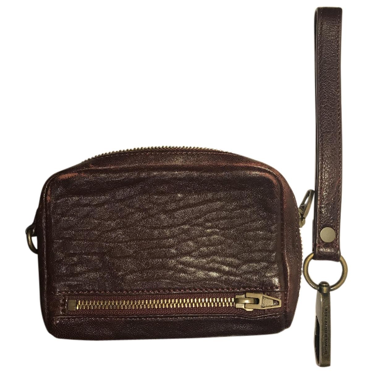 Alexander Wang \N Burgundy Leather wallet for Women \N