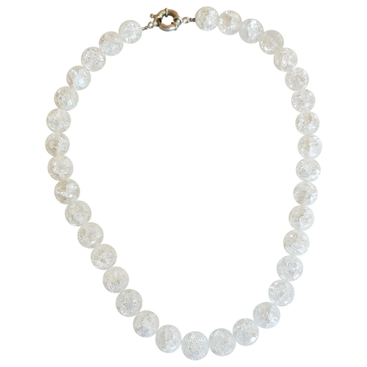 - Collier   pour femme en cristal - blanc