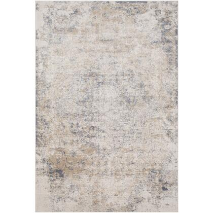 Durham DUR-1012 9' x 12' Rectangle Traditional Rug in Taupe  White  Medium