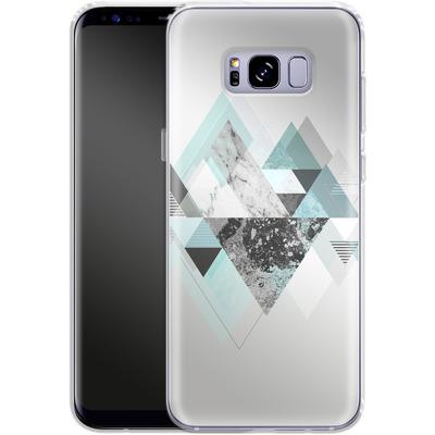 Samsung Galaxy S8 Plus Silikon Handyhuelle - Graphic 110 - Turquoise von Mareike Bohmer