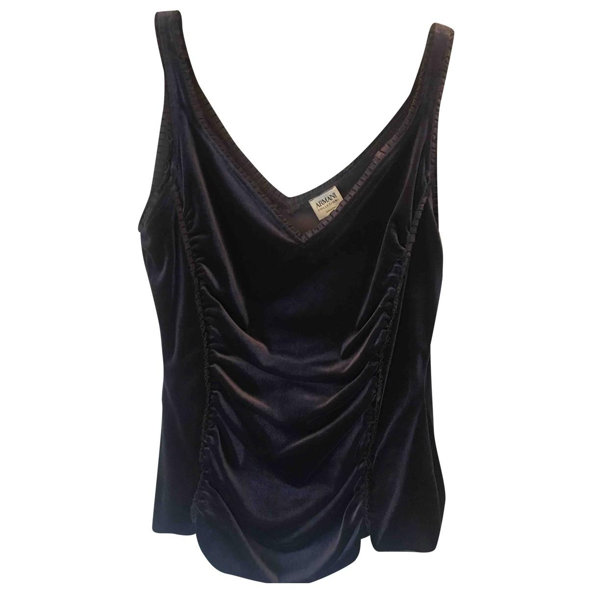 Armani Collezioni \N Purple Velvet  top for Women 42 IT