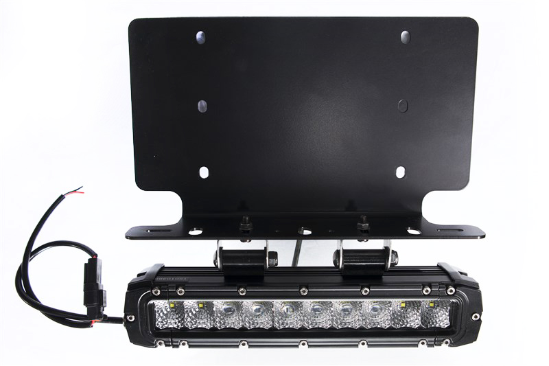 Race Sport Lighting RSNRL62-1 10 Inch Stealth Light Bar and 2 Bottom Mounts US License Plate Bracket