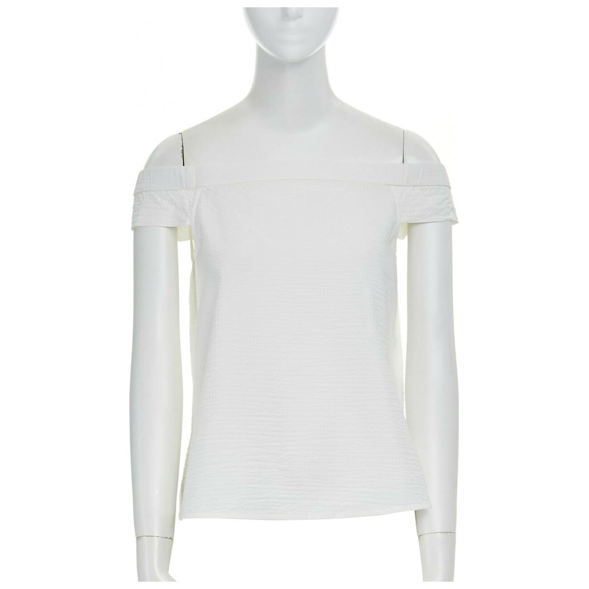Tibi - Top   pour femme en coton - blanc