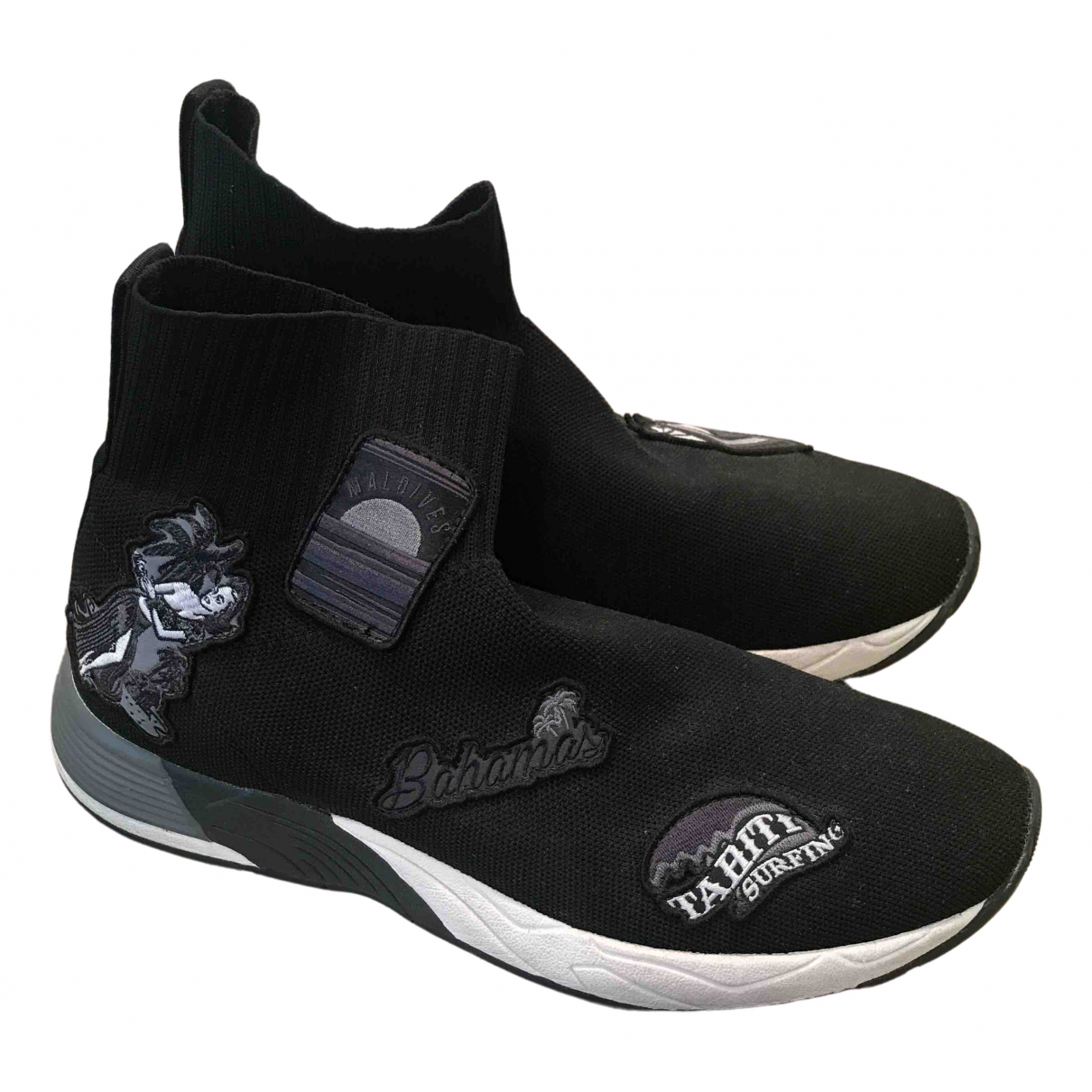 Emporio Armani \N Sneakers in  Schwarz Polyester