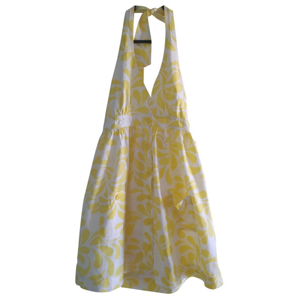 Non Signé / Unsigned \N Yellow Cotton dress for Women S International