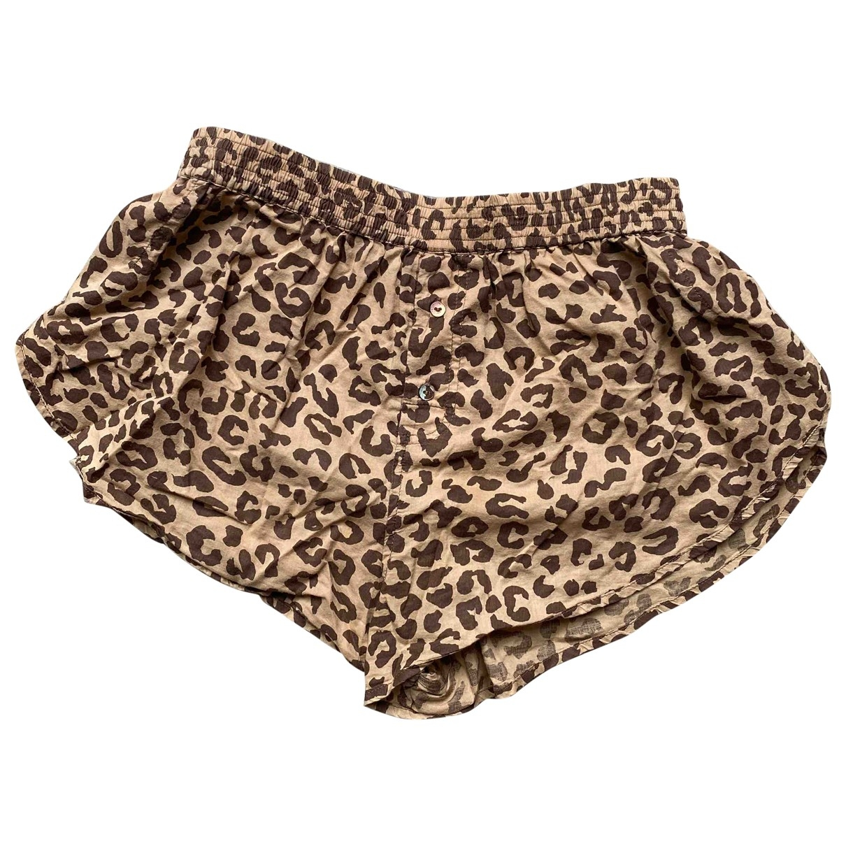 Wood Wood \N Brown Cotton Shorts for Women XS International