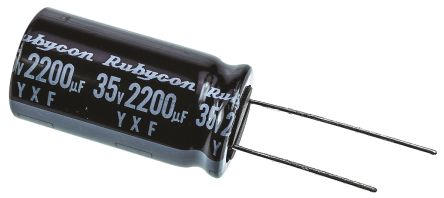 Rubycon 2200μF Electrolytic Capacitor 35V dc, Through Hole - 35YXF2200M16X31.5 (5)