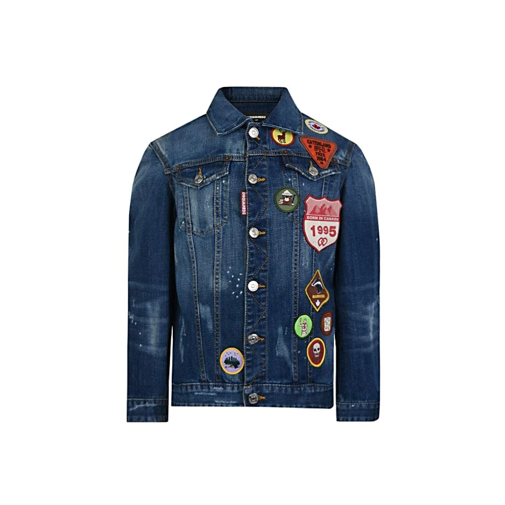 Dsquared2 Kids Denim Jacket Colour: BLUE, Size: 14 YEARS
