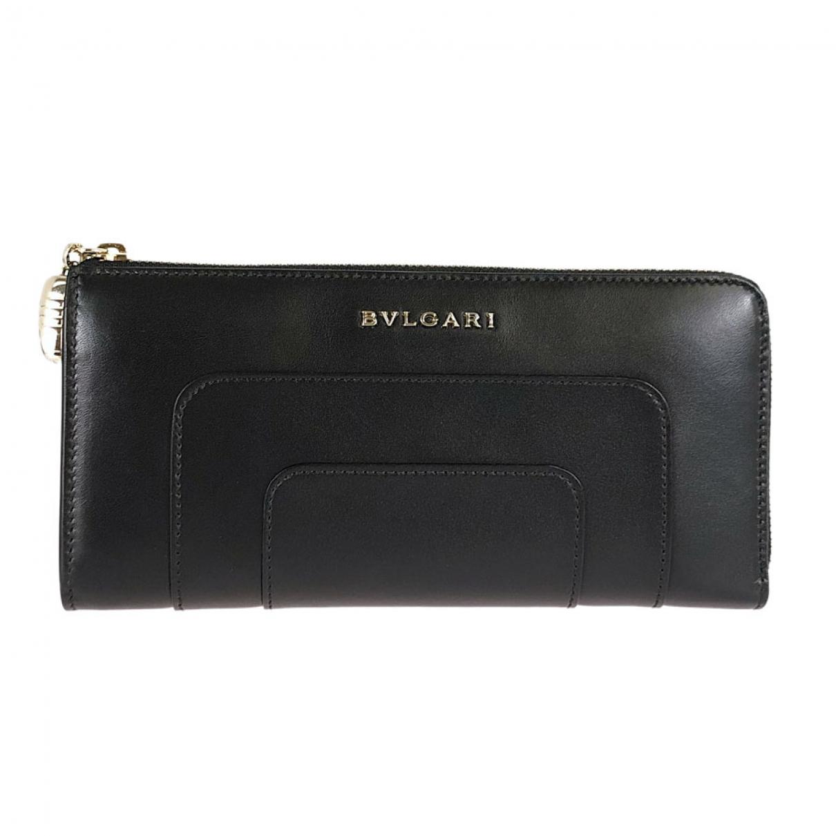 Bvlgari - Portefeuille   pour femme en cuir - noir