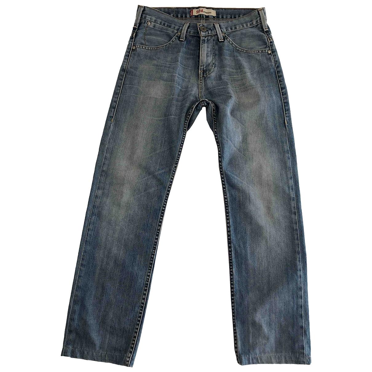 Levi's \N Blue Cotton Jeans for Men 28 US