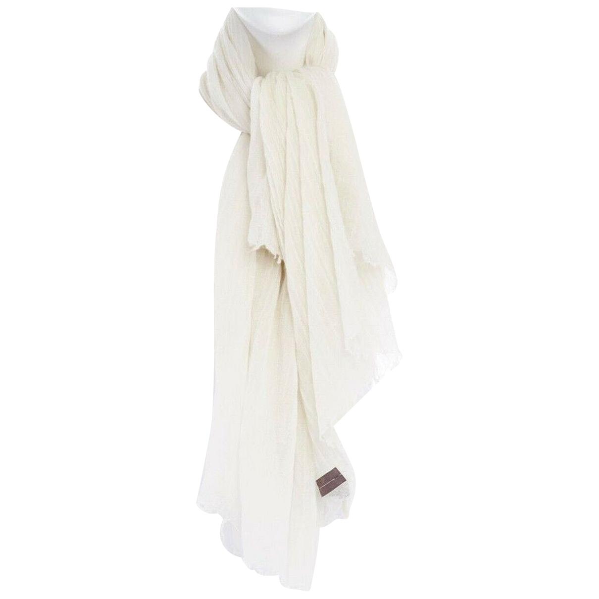 Rick Owens - Foulard   pour femme en cachemire - blanc