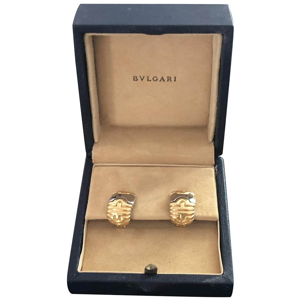 Bvlgari - Boucles doreilles Parentesi pour femme en or et acier - dore