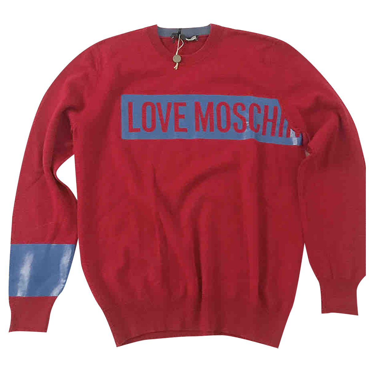 Moschino Love - Pull   pour femme en laine - rouge
