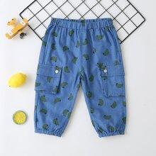 Jeans mit ueberallem Banane Muster