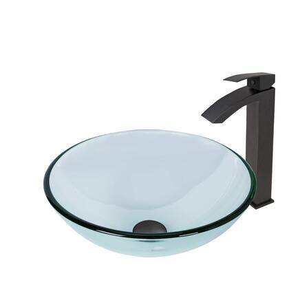VGT891 Crystalline Glass Vessel Bathroom Sink Set With Duris Vessel Faucet in Matte