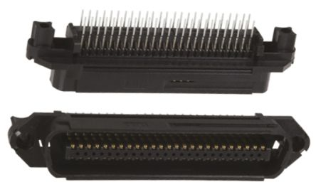 TE Connectivity , CHAMP 2.16mm Pitch 50 Way 1 Row Straight PCB Socket, PCB Mount, Screw Down Termination