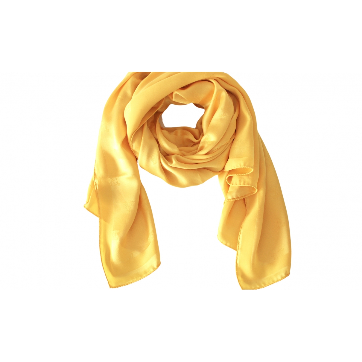 Max Mara - Foulard   pour femme en soie - jaune