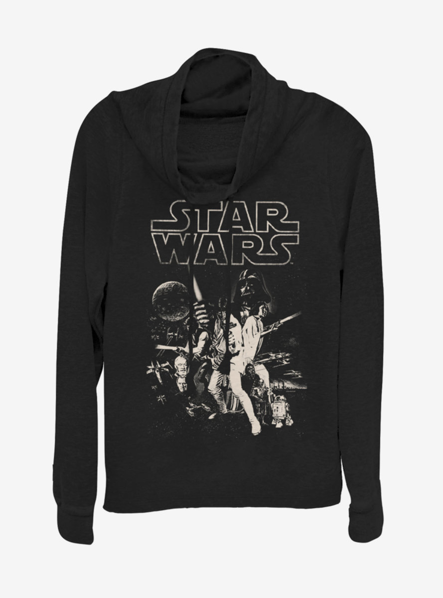 Star Wars Poster Cowlneck Long-Sleeve Womens Top
