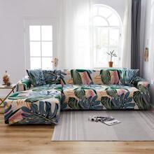 Sofabezug mit Blatt Muster ohne Kissen