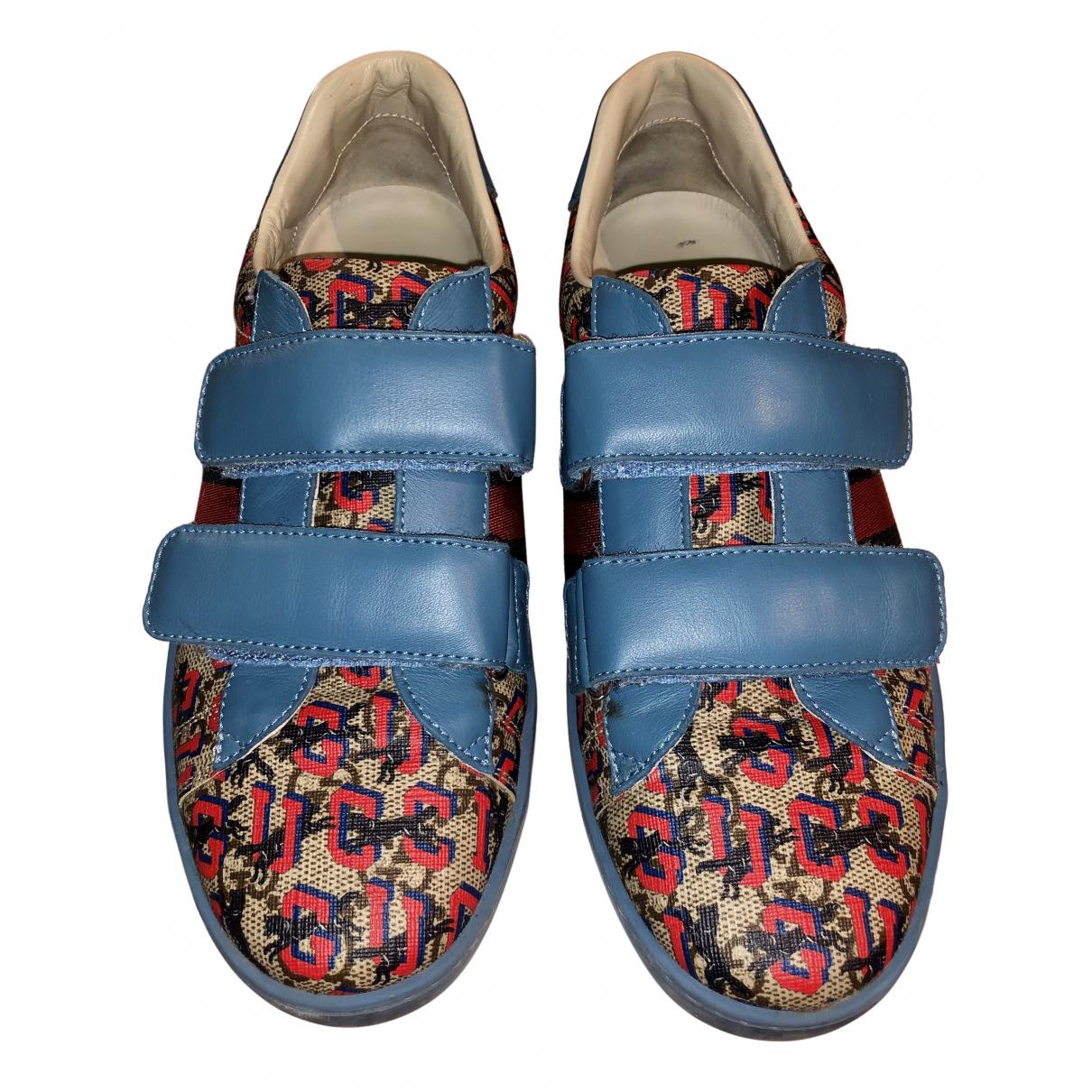 Gucci - Baskets Ace pour femme en toile - bleu
