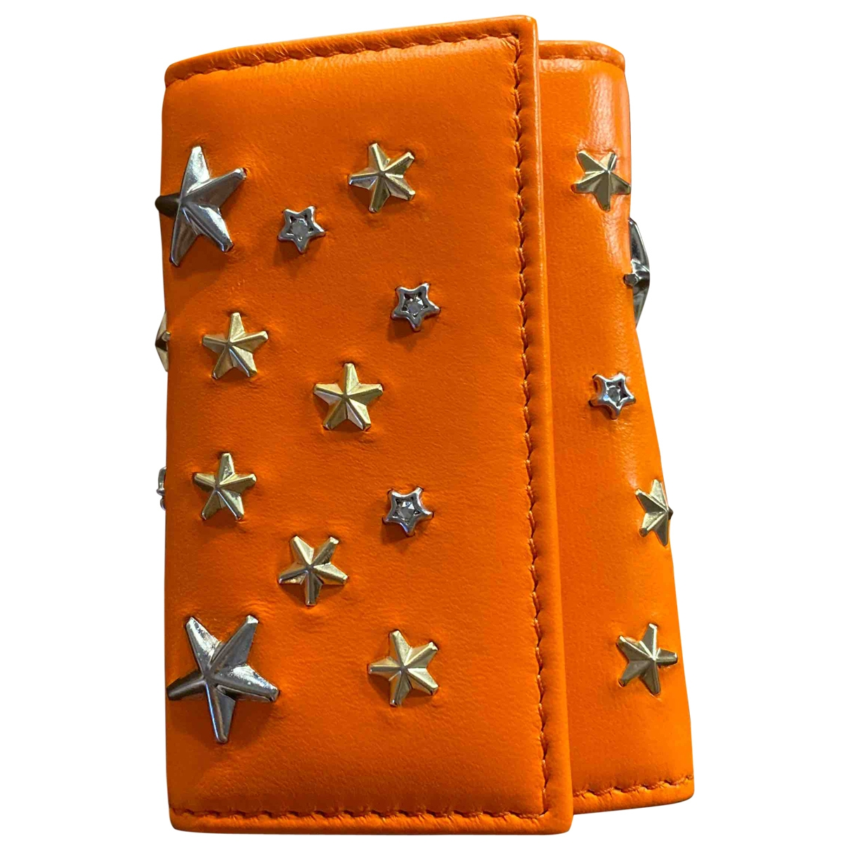 Jimmy Choo - Petite maroquinerie   pour homme en cuir - orange