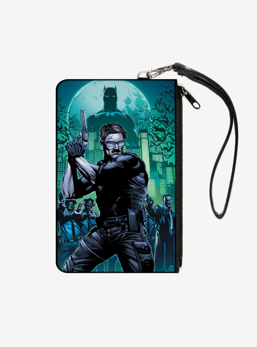 DC Comics The New 52 Detective Comics Issue 25 James Gordon Cover Pose Wallet Canvas Zip Clutch